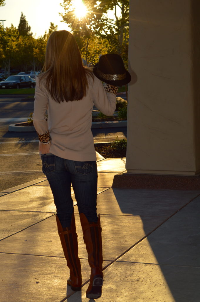 Knee High Boots and Hat