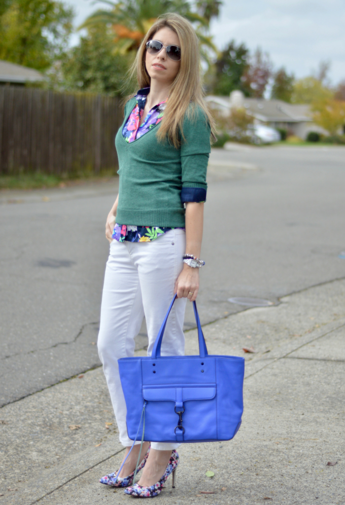 Shirt Sweater Outfit for Fall