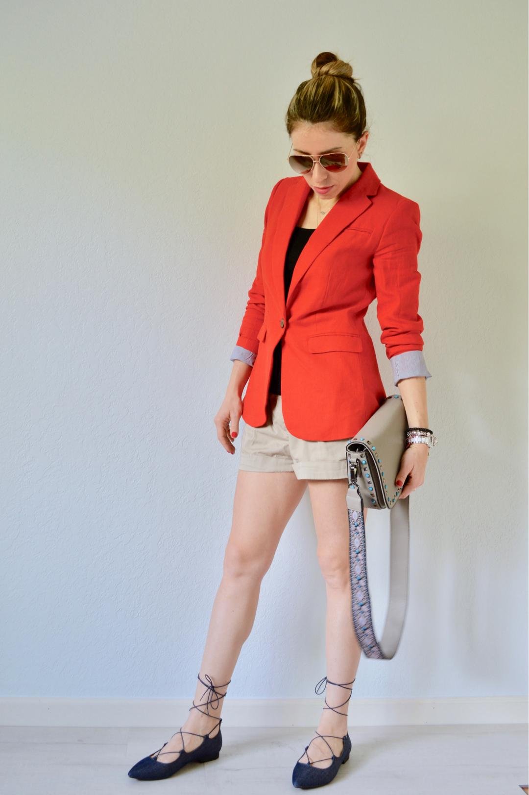 Wear to what under a red blazer new photo