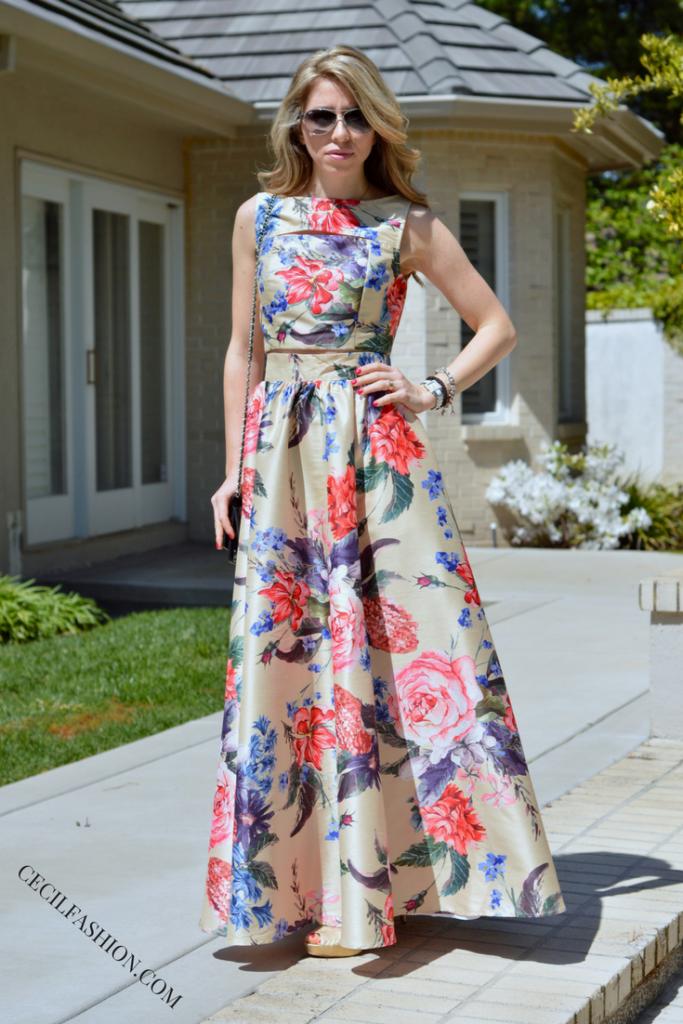 703fbc817c8 Two-Piece Maxi Dress by eShakti