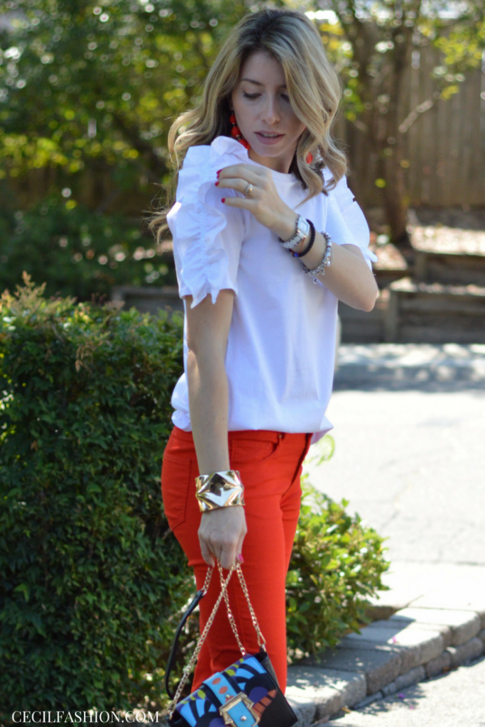 Ruffled Top Summer Outfit on a Budget