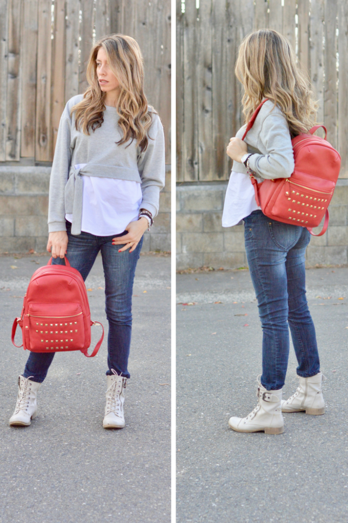 red bag outfits